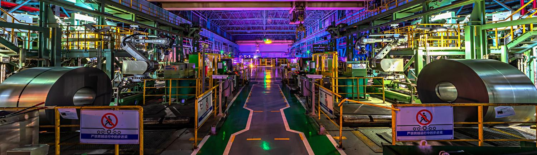 Ansicht einer Produktionshalle